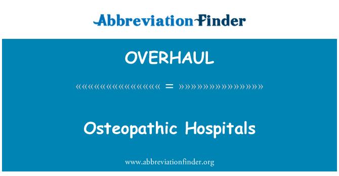 OVERHAUL: Hospital-hospital osteopathic