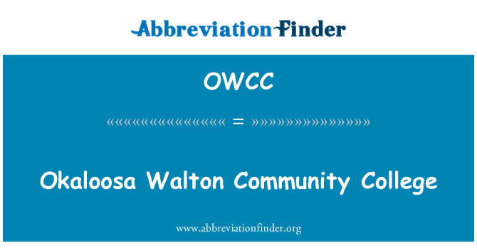 OWCC: Okaloosa Walton Community College