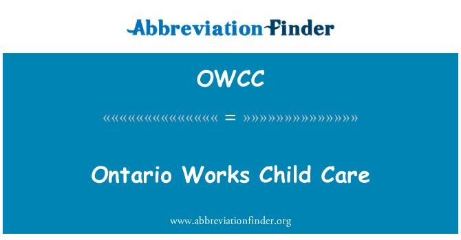 OWCC: Ontario işleri çocuk bakımı