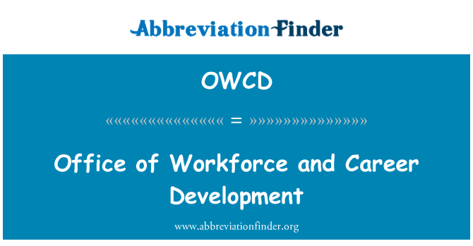 OWCD: Office of Workforce and Career Development