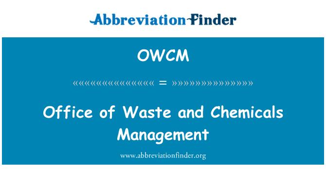OWCM: Otpadom i kemikalijama