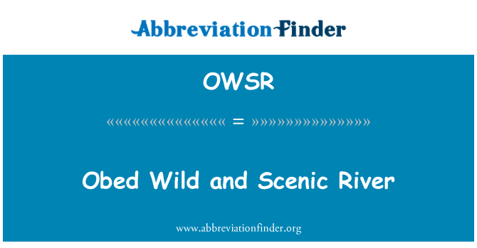 OWSR: Obed Wild and Scenic River