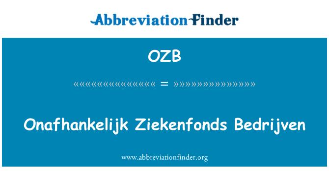 OZB: Poner Ziekenfonds empresas