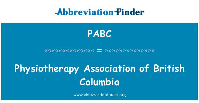 PABC: Asociación de fisioterapia de la Columbia Británica