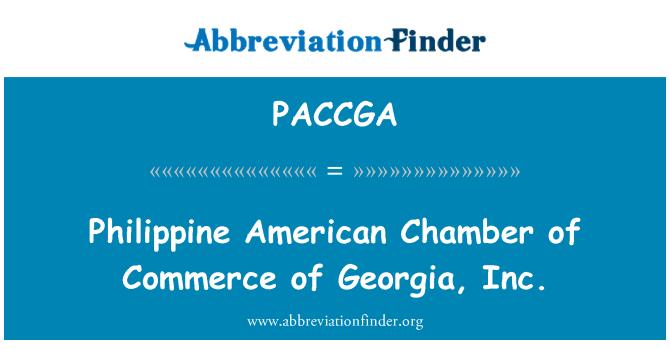 PACCGA: Philippine American Chamber of Commerce of Georgia, Inc.