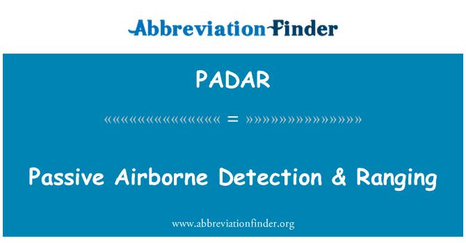 PADAR: Passive Airborne Detection & Ranging
