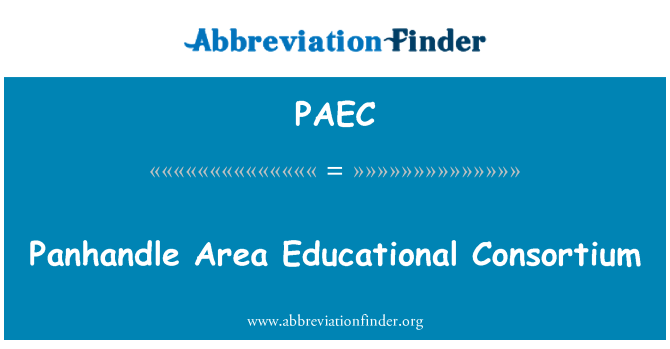 PAEC: Panhandle ala haridusasutuste konsortsium