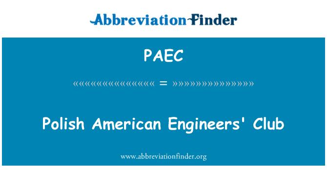 PAEC: 波兰美国工程师俱乐部