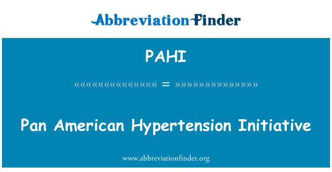 PAHI: Pan Amerikos hipertenzijos iniciatyva