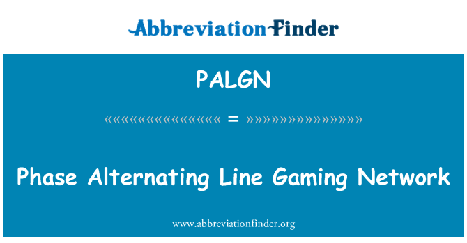 PALGN: Phase Alternating Line Gaming Network