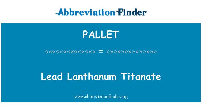 PALLET: Johtaa lantaani Titanate