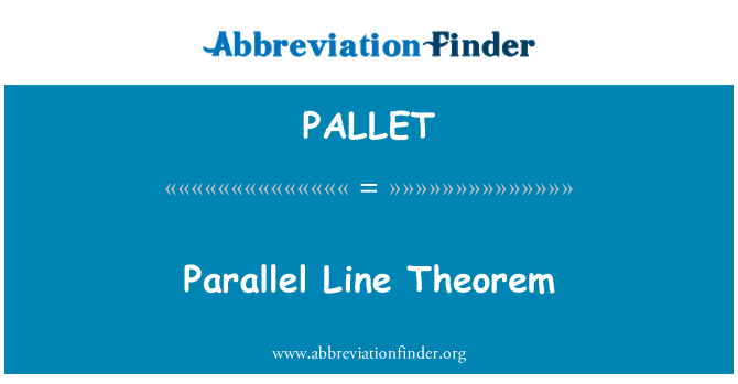 PALLET: Parallele Linie Theorem