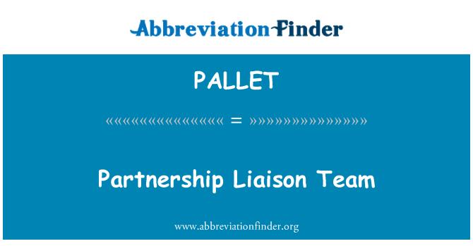 PALLET: Partnerystės ryšių palaikymo komanda