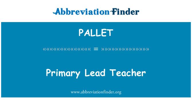 PALLET: Hlavný vedúci učiteľ