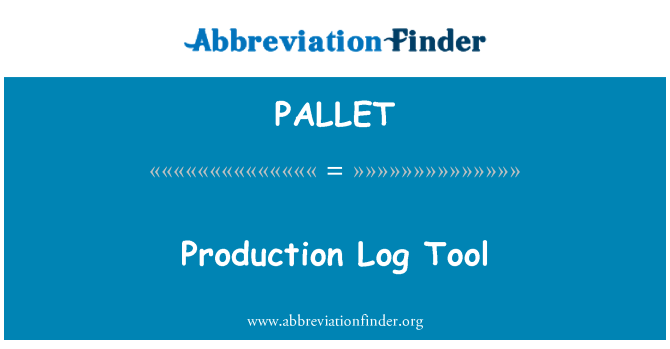 PALLET: Productie Log instrument