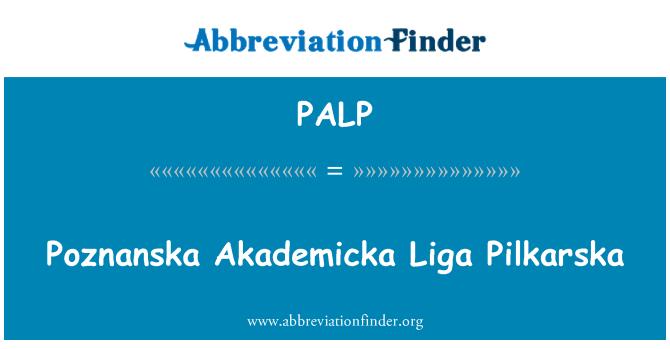PALP: Poznanska Akademicka Liga Pilkarska