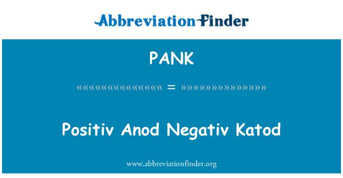 PANK: Positiv Anod Negativ Katod