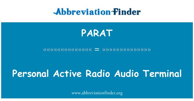PARAT: Personal Active Radio Audio Terminal