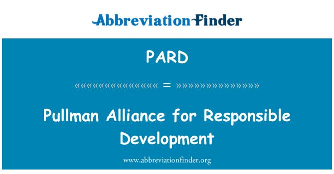 PARD: Pullman Alliance for Responsible Development