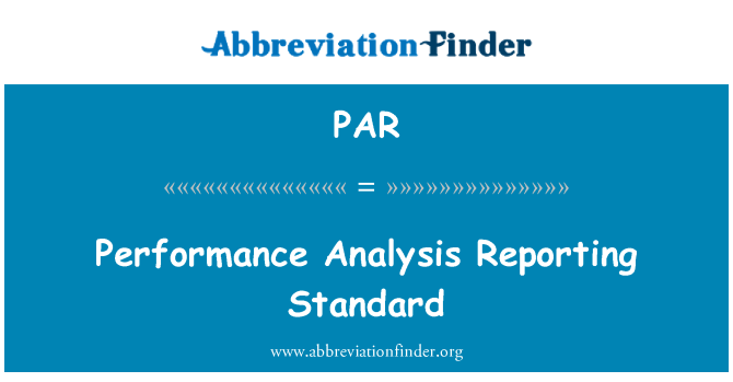 PAR: Standard laporan analisis prestasi