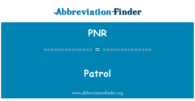 PNR: Rondaan