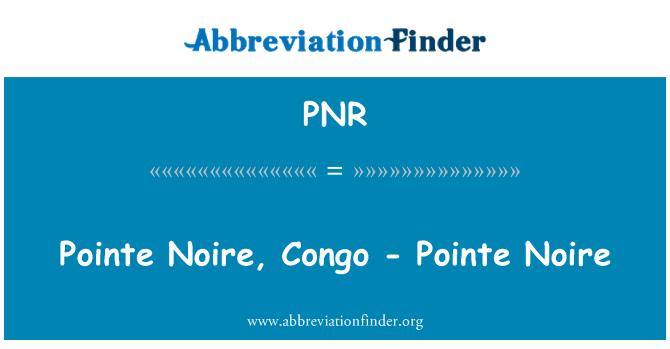 PNR: 普安特黑角,剛果-黑角