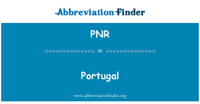 PNR: Portugal