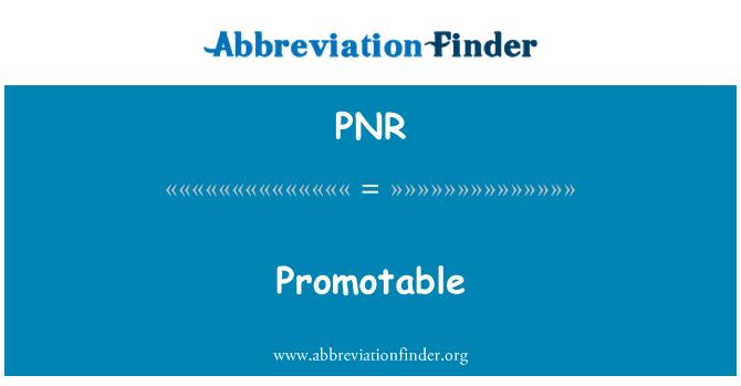 PNR: Promotable