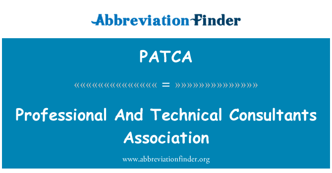 PATCA: Professional And Technical Consultants Association