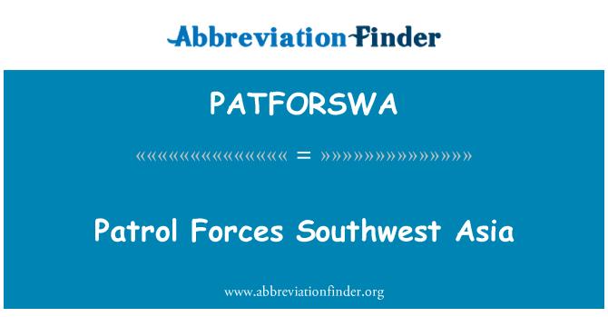 PATFORSWA: Patrol Forces Southwest Asia