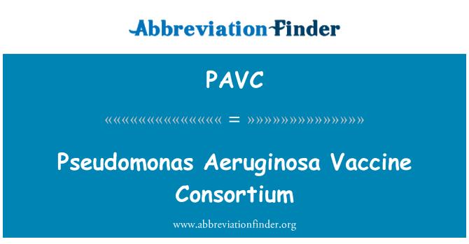 PAVC: Pseudomonas Aeruginosa vacuna consorcio