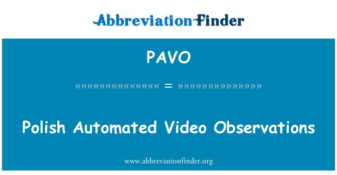 PAVO: Observaciones de vídeo automatizadas polacas