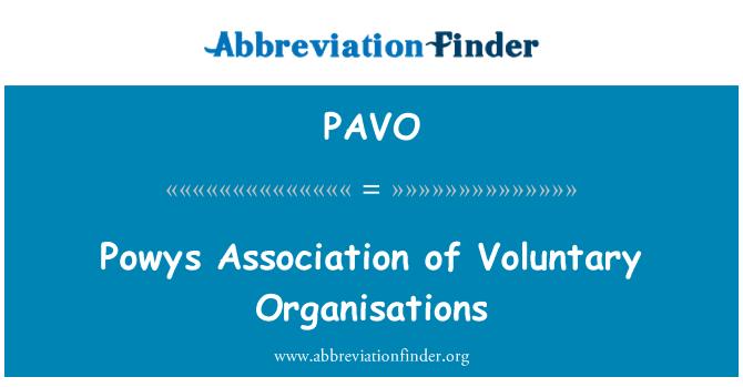 PAVO: Powys Asociación de organizaciones de voluntarios