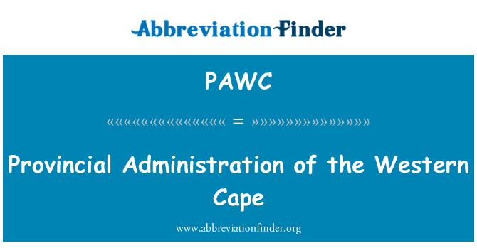 PAWC: Western Cape il İdaresi