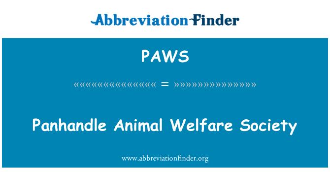 PAWS: Panhandle sociedad del Bienestar Animal