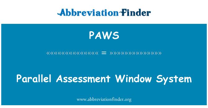 PAWS: Sistema de evaluación paralela de ventana