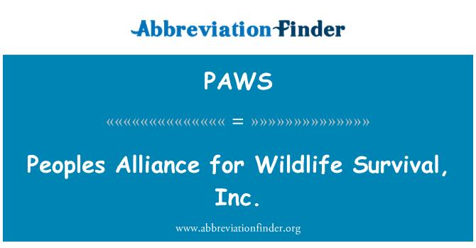 PAWS: Alianza de los pueblos para la supervivencia de la fauna silvestre, Inc.