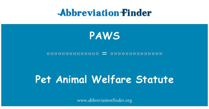 PAWS: Ley de Bienestar Animal mascota
