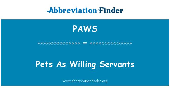 PAWS: Animales domésticos como siervos dispuestos