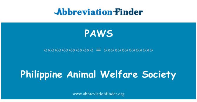 PAWS: Sociedad para el Bienestar Animal filipino