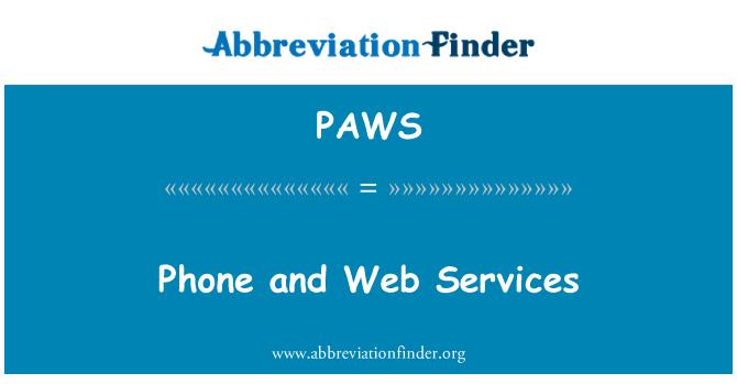 PAWS: Teléfono y servicios Web