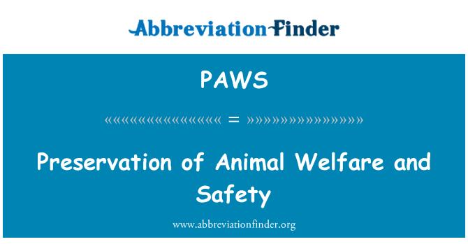 PAWS: Preservación de la seguridad y bienestar de los animales