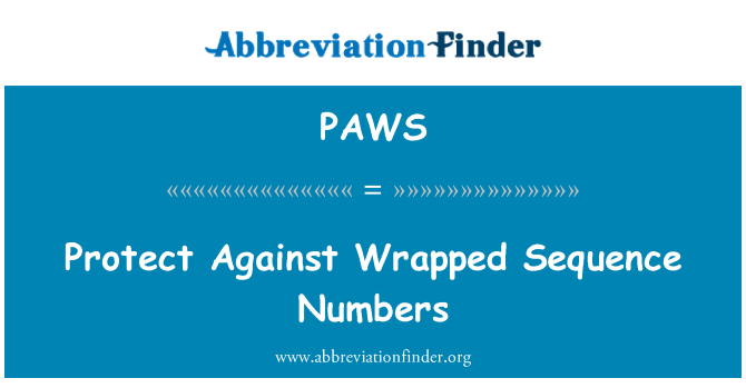 PAWS: Proteger contra números de secuencia envuelto