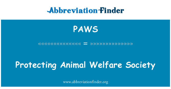 PAWS: Proteger a la sociedad de Bienestar Animal