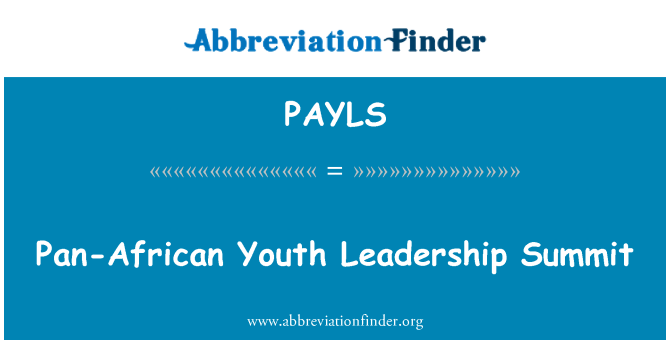 PAYLS: Pan-African Youth Leadership Summit
