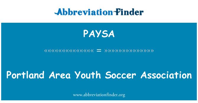 PAYSA: Portland Area Youth Soccer Association