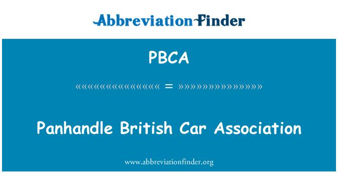 PBCA: Panhandle coche británico Association