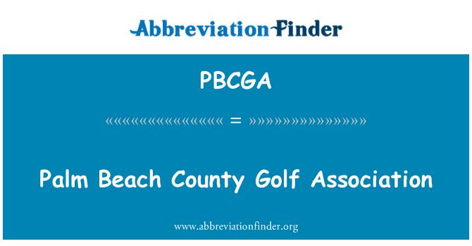 PBCGA: Palm Beach County Golf Association