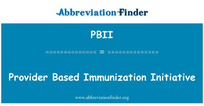PBII: Proveedor basado en la iniciativa de inmunización