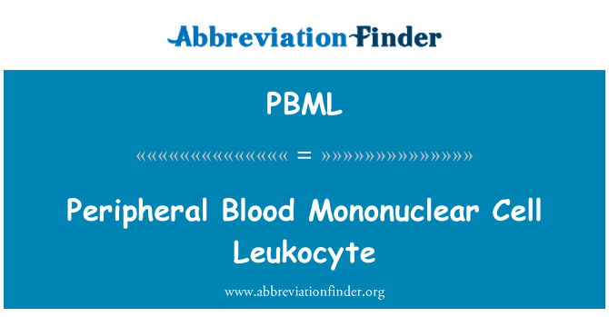 PBML: Peripheral Blood Mononuclear Cell Leukocyte